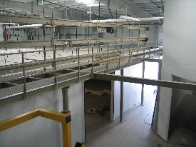 Conveyor Supports in a warehouse
